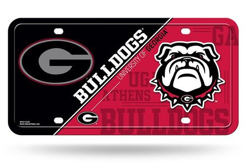 Georgia Bulldogs License Plate Metal