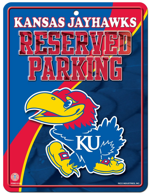 Kansas Jayhawks Metal Parking Sign - Special Order