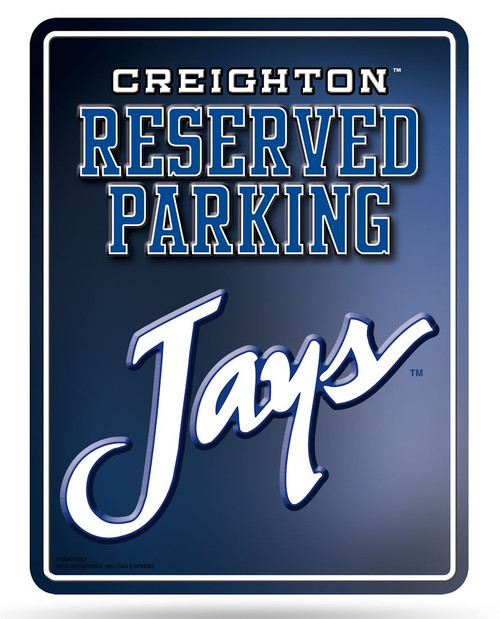 Creighton Bluejays Metal Parking Sign - Special Order