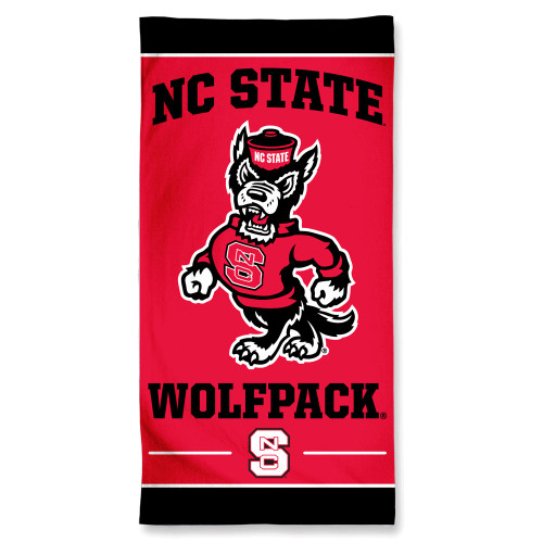 North Carolina State Wolfpack Towel 30x60 Beach Style