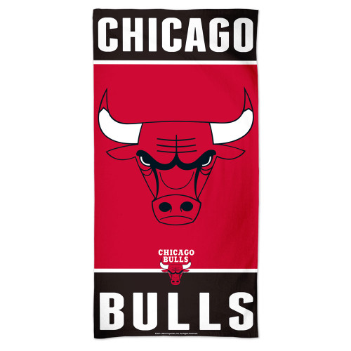 Chicago Bulls Towel 30x60 Beach Style - Special Order