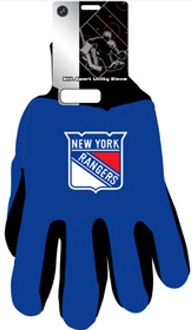 New York Rangers Two Tone Gloves - Adult