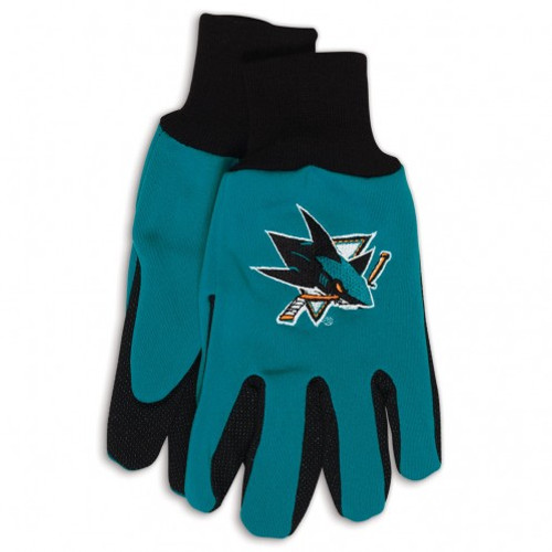 San Jose Sharks Two Tone Gloves - Adult Size