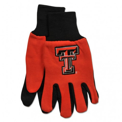 Texas Tech Red Raiders Two Tone Gloves - Adult Size - Special Order