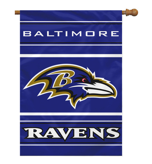 Baltimore Ravens Banner 28x40 House Flag Style 2 Sided - Special Order