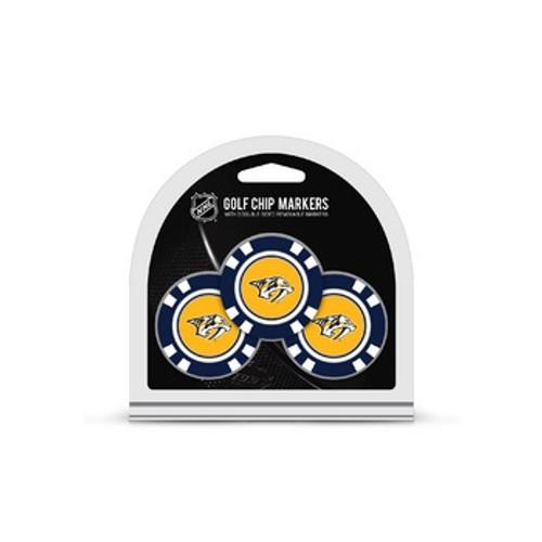Nashville Predators Golf Chip with Marker 3 Pack - Special Order