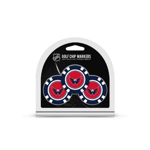 Washington Capitals Golf Chip with Marker 3 Pack - Special Order