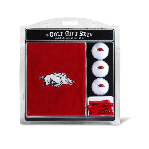 Arkansas Razorbacks Golf Gift Set with Embroidered Towel - Special Order