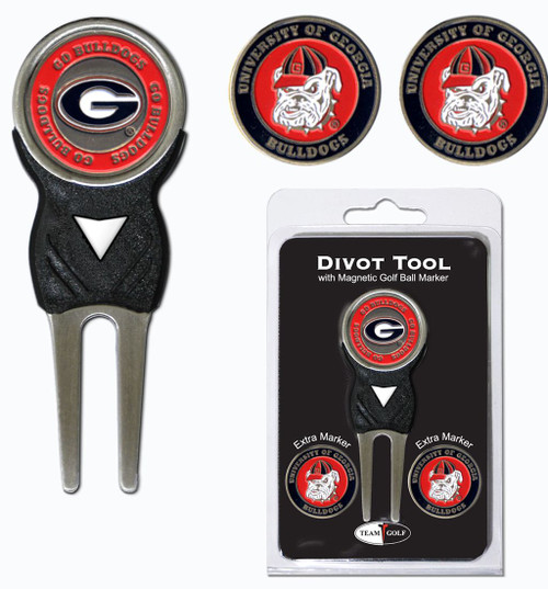 Georgia Bulldogs Golf Divot Tool with 3 Markers - Special Order