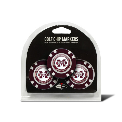 Mississippi State Bulldogs Golf Chip with Marker 3 Pack - Special Order