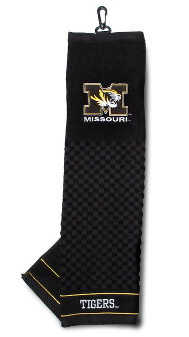 """Missouri Tigers 16""""x22"""" Embroidered Golf Towel - Special Order"""