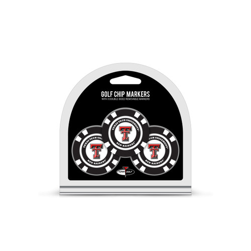 Texas Tech Red Raiders Golf Chip with Marker 3 Pack - Special Order