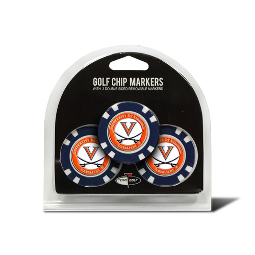 Virginia Cavaliers Golf Chip with Marker 3 Pack - Special Order