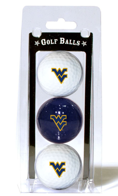 West Virginia Mountaineers 3 Pack of Golf Balls - Special Order