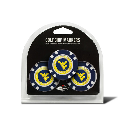 West Virginia Mountaineers Golf Chip with Marker 3 Pack - Special Order
