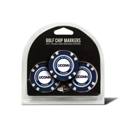 Connecticut Huskies Golf Chip with Marker 3 Pack - Special Order