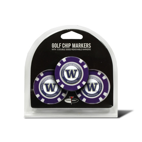 Washington Huskies Golf Chip with Marker 3 Pack - Special Order