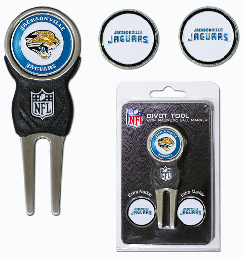 Jacksonville Jaguars Golf Divot Tool with 3 Markers - Special Order