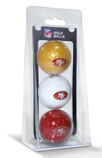 San Francisco 49ers 3 Pack of Golf Balls - Special Order