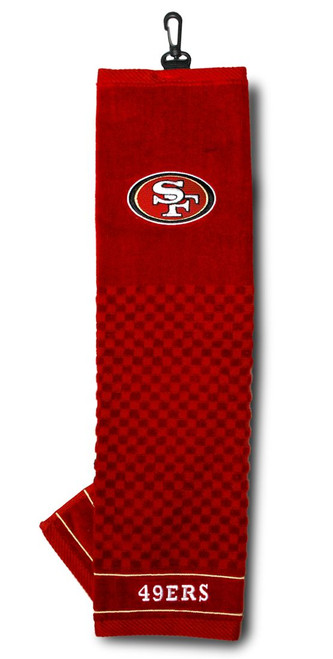 """San Francisco 49ers 16""""x22"""" Embroidered Golf Towel - Special Order"""