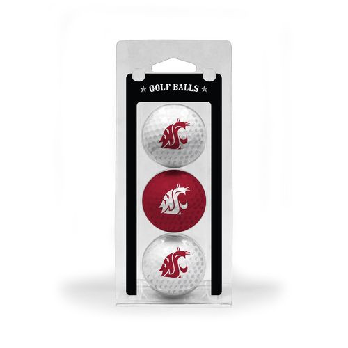 Washington State Cougars 3 Pack of Golf Balls - Special Order