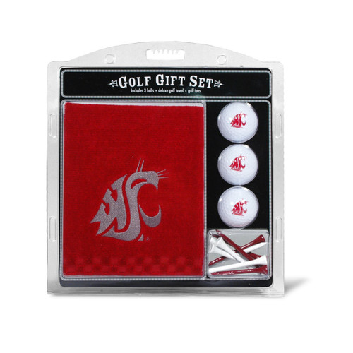 Washington State Cougars Golf Gift Set with Embroidered Towel - Special Order