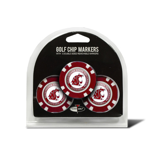 Washington State Cougars Golf Chip with Marker 3 Pack - Special Order