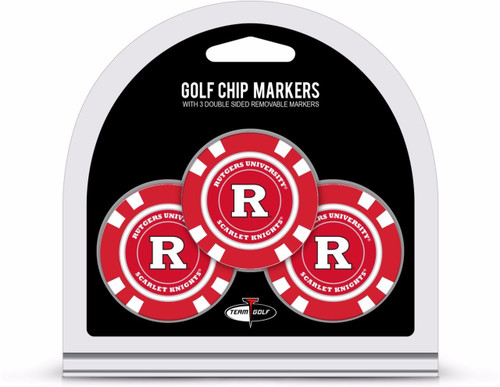 Rutgers Scarlet Knights Golf Chip with Marker 3 Pack - Special Order