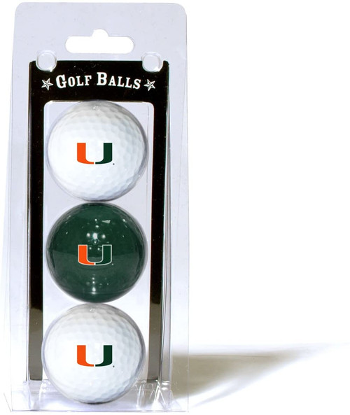 Miami Hurricanes 3 Pack of Golf Balls - Special Order