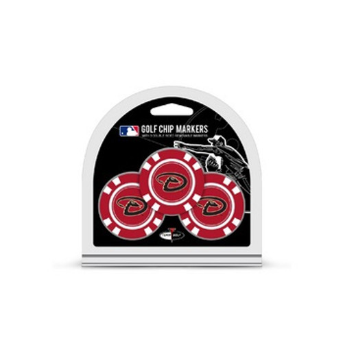Arizona Diamondbacks Golf Chip with Marker 3 Pack - Special Order