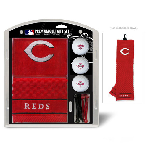 Cincinnati Reds Golf Gift Set with Embroidered Towel - Special Order