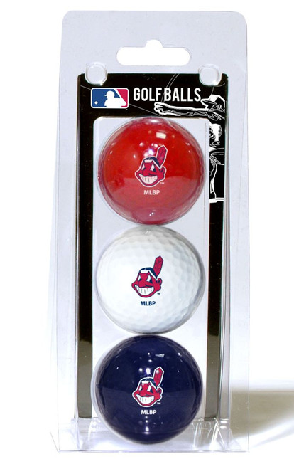 Cleveland Indians 3 Pack of Golf Balls - Special Order