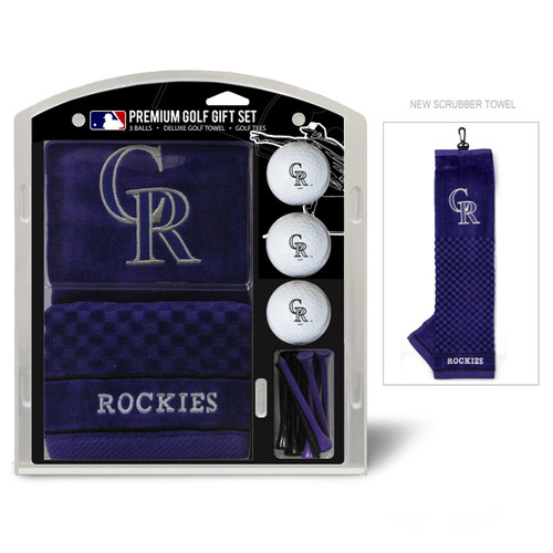 Colorado Rockies Golf Gift Set with Embroidered Towel - Special Order