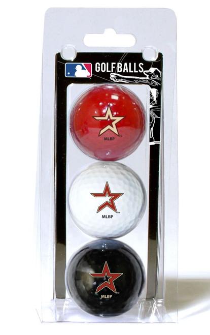 Houston Astros Golf Balls 3 Pack - Special Order