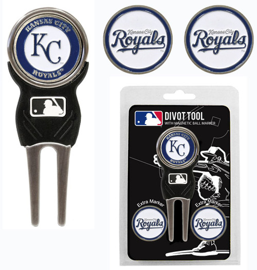 Kansas City Royals Golf Divot Tool with 3 Markers - Special Order