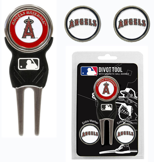 Los Angeles Angels Golf Divot Tool with 3 Markers - Special Order
