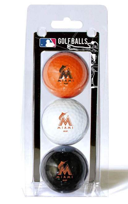 Miami Marlins 3 Pack of Golf Balls - Special Order
