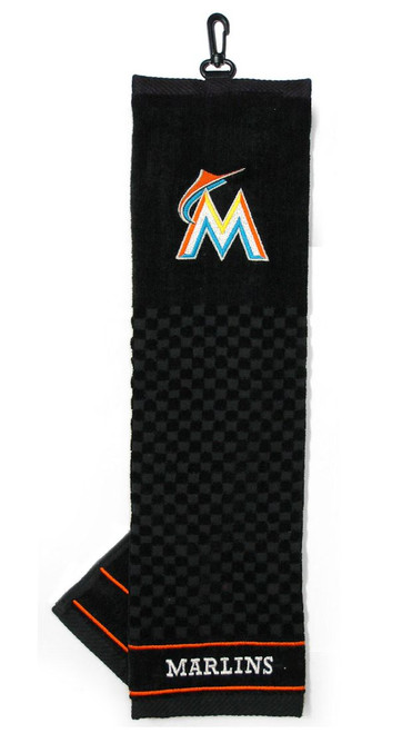 """Miami Marlins 16""""x22"""" Embroidered Golf Towel - Special Order"""
