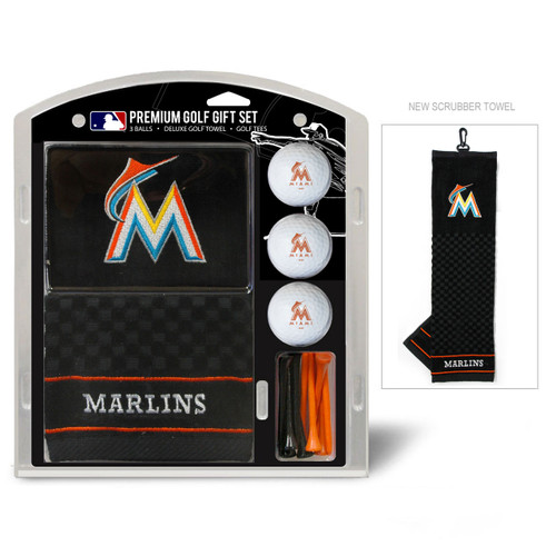 Miami Marlins Golf Gift Set with Embroidered Towel - Special Order