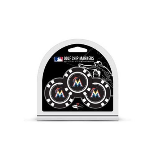 Miami Marlins Golf Chip with Marker 3 Pack - Special Order