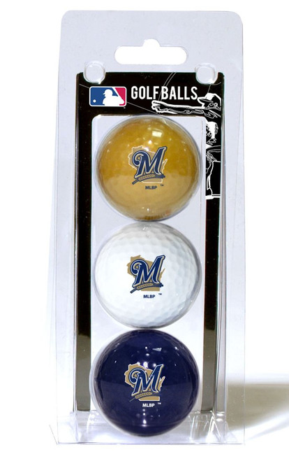 Milwaukee Brewers 3 Pack of Golf Balls - Special Order