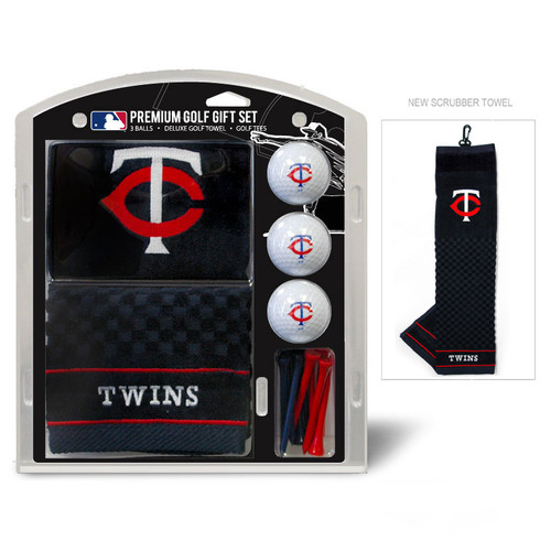 Minnesota Twins Golf Gift Set with Embroidered Towel - Special Order