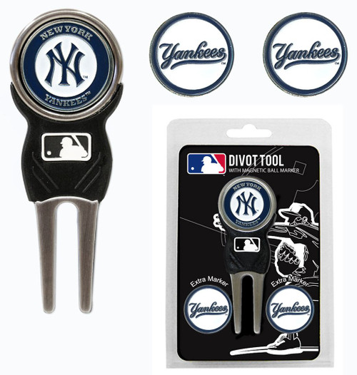 New York Yankees Golf Divot Tool with 3 Markers - Special Order