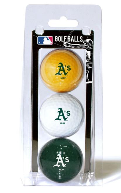 Oakland Athletics 3 Pack of Golf Balls - Special Order