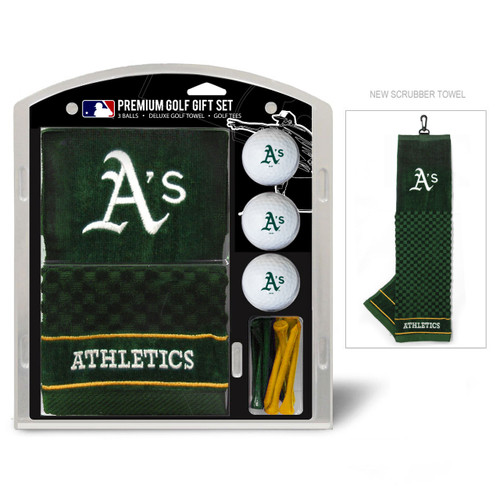 Oakland Athletics Golf Gift Set with Embroidered Towel - Special Order