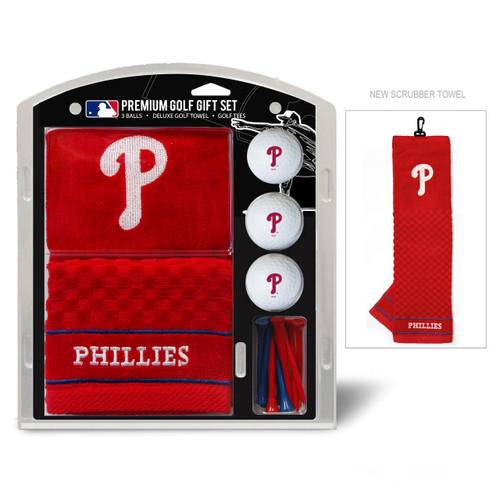 Philadelphia Phillies Golf Gift Set with Embroidered Towel - Special Order