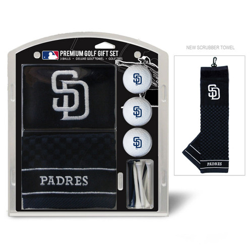 San Diego Padres Golf Gift Set with Embroidered Towel - Special Order