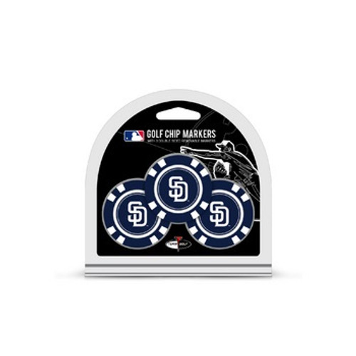 San Diego Padres Golf Chip with Marker 3 Pack - Special Order