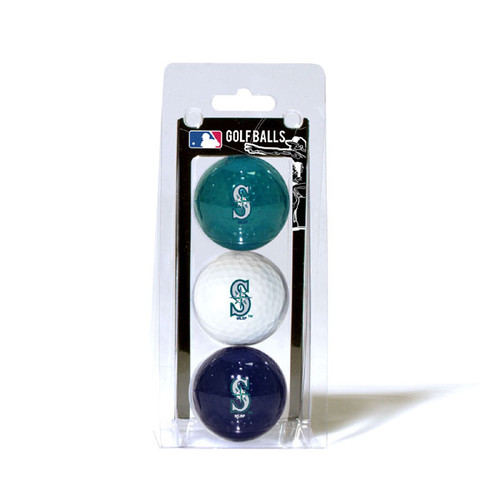Seattle Mariners 3 Pack of Golf Balls - Special Order