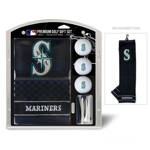 Seattle Mariners Golf Gift Set with Embroidered Towel - Special Order
